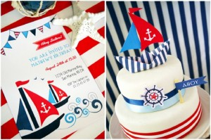 preppry nautical party maritime red white blue party ideas 4th july sailing sail boats printables supplies partyware party decor